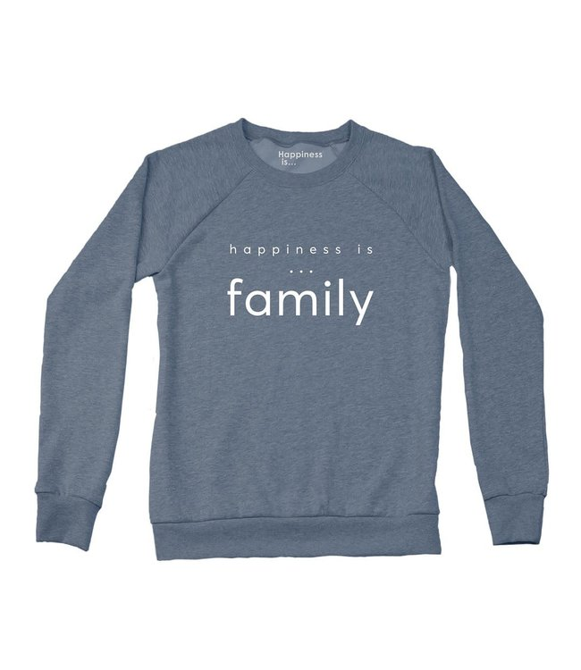 Happiness is Family Crewneck