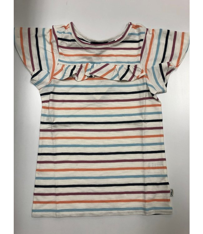 Silver Youth Striped Frill Tee