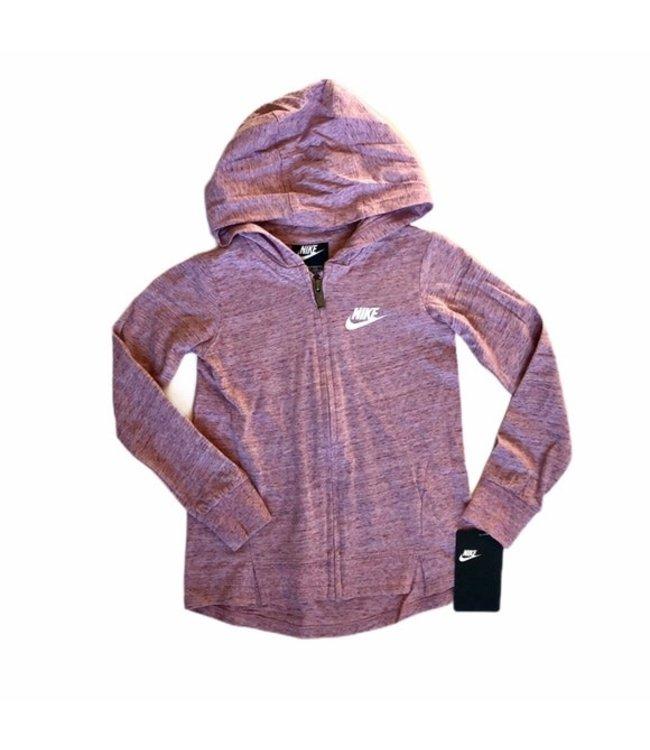 Nike Youth Jersey Slub Zip Up Hoodie