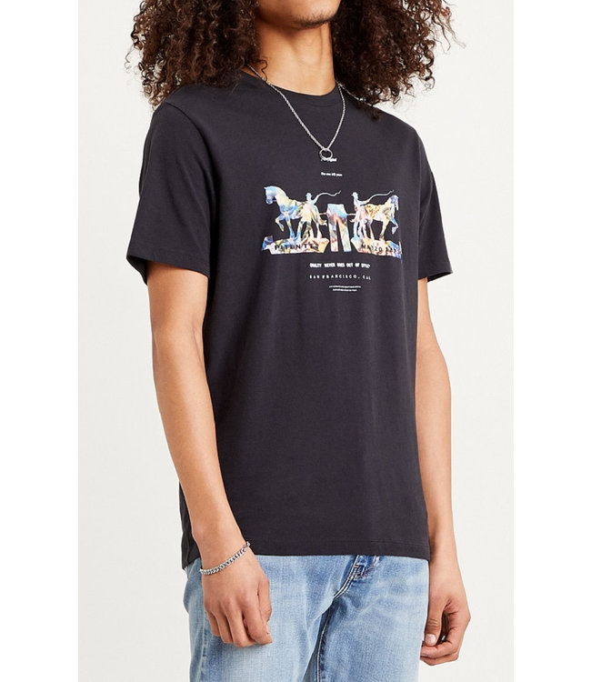 Levis Mens 2 Horse Graphic Tee