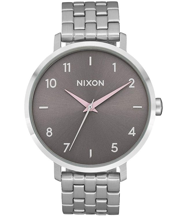 Nixon Arrow Silver/Gray/Pale Pink