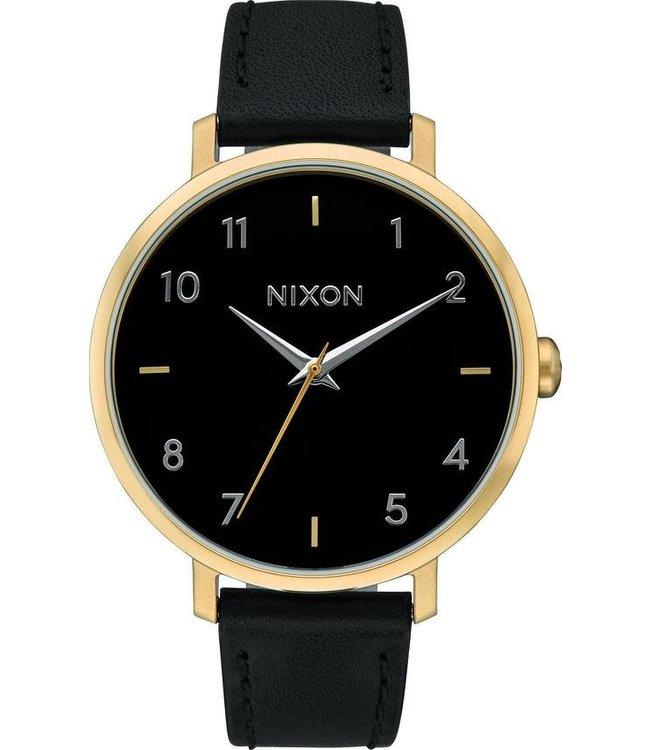 Nixon Arrow Leather Black/Gold/Cage