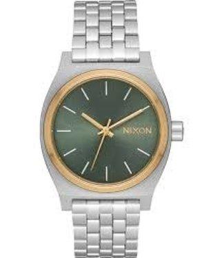 Nixon Nixon Medium Time Teller Silver/Gold/Agave