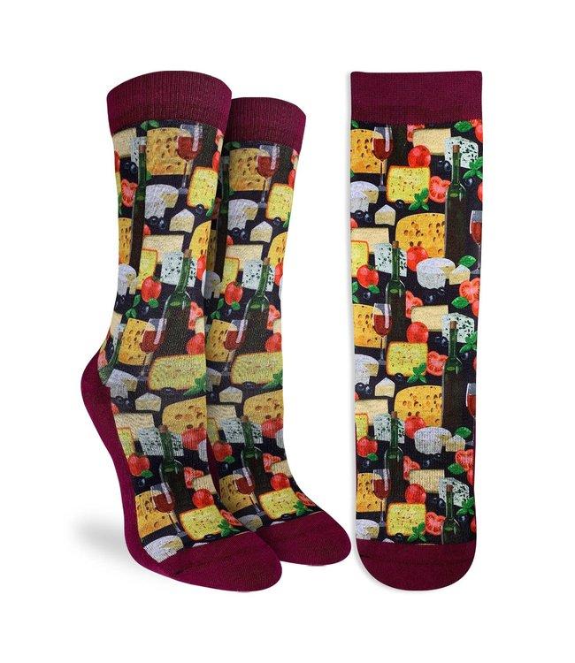 Good Luck Socks Womens Wine and Cheese