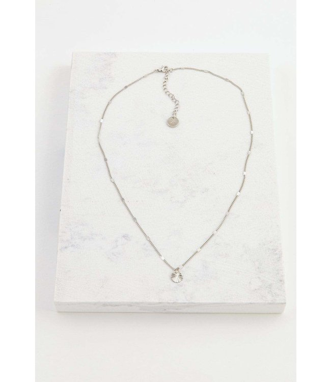 Lovers Tempo Everly Circle Necklace - Silver
