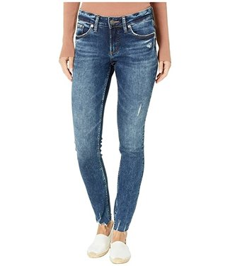 Silver Silver Womens Elyse  Skinny Mid Rise