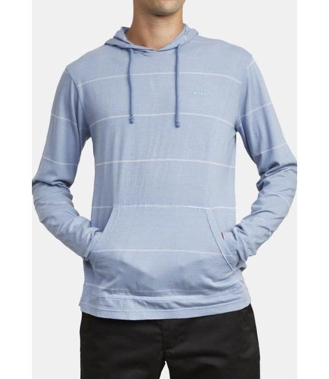 RVCA PTC Stripe Hooded Long Sleeve Tee