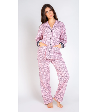 P.J. Salvage PJ Salvage Flannel Doggie Face PJ Set
