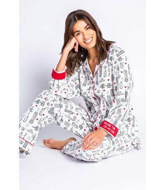 P.J. Salvage PJ Salvage Flannel New York PJ Set