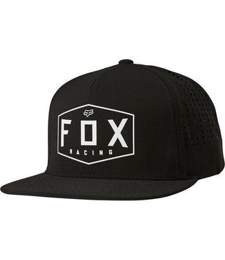 Fox Fox Crest Snapback Hat - Black
