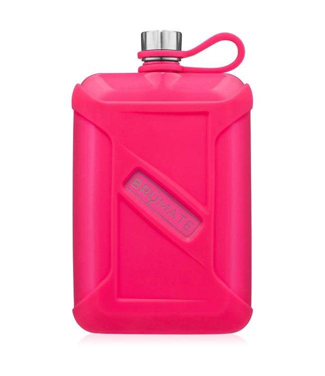 BruMate Liquor Canteen 8oz Neon Pink