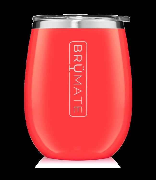 BruMate Uncork'd 14oz Wine Tumbler Coral