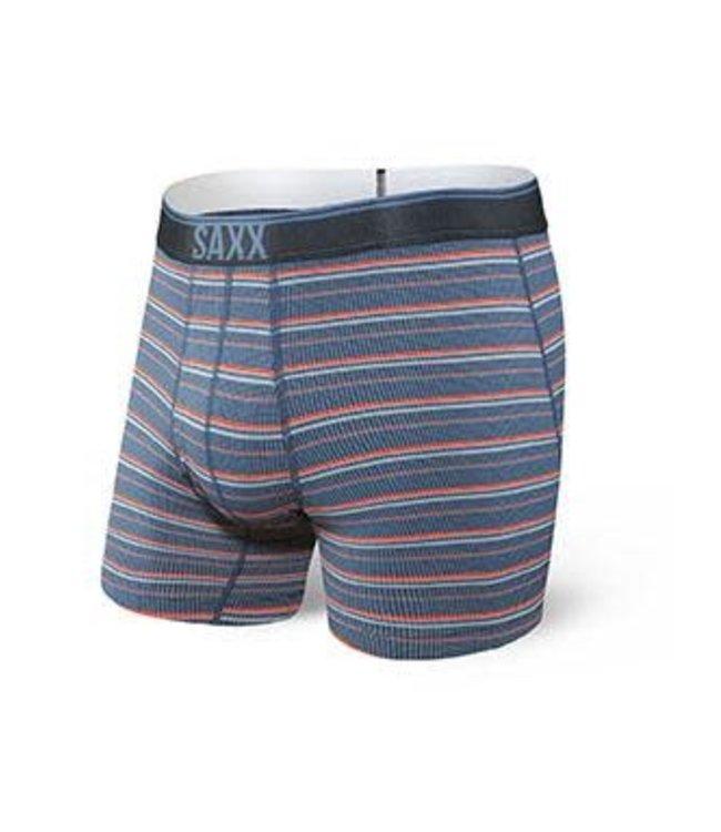 SAXX Quest Boxer Brief Fly - Blue Astro Stripe