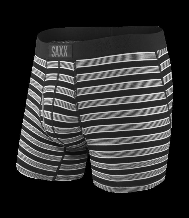 SAXX Ultra Boxer Brief Fly - Black Crew Stripe