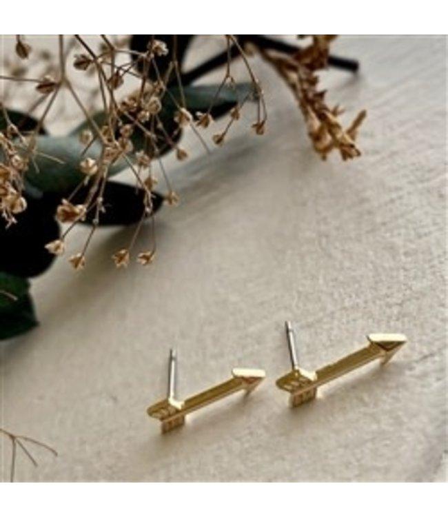 Pika & Bear Bullseye Arrow Stud Earrings