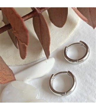 Pika & Bear Pika & Bear Coco 12mm Hoop Sterling Silver Earrings