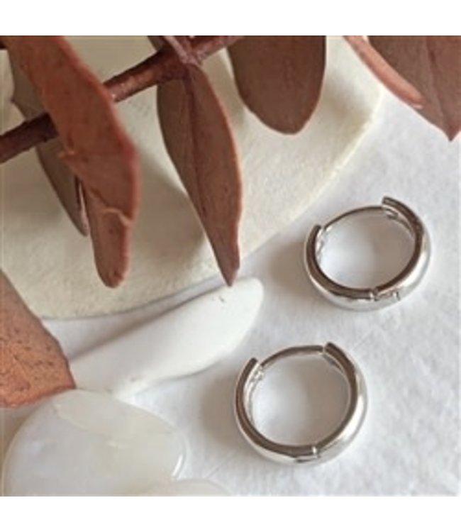 Pika & Bear Coco 12mm Hoop Sterling Silver Earrings