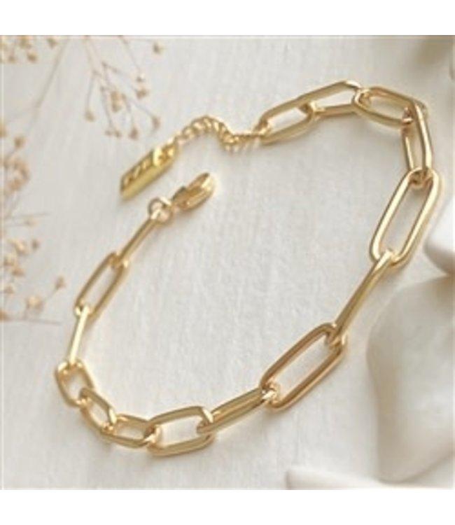 Pika & Bear Montmartre Paperclip Chain Gold Bracelet