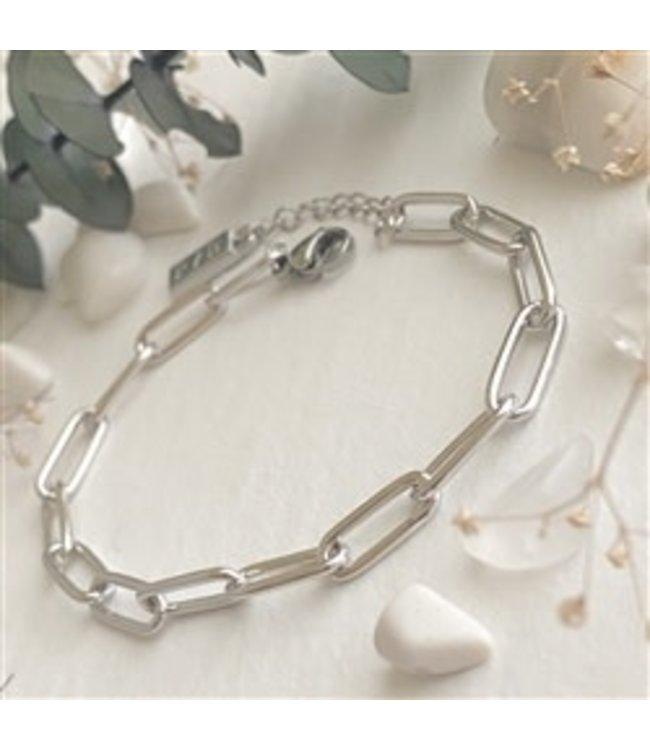 Pika & Bear Montmartre Paperclip Chain Silver Bracelet