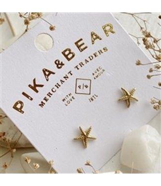 Pika & Bear Pika & Bear Sechett Starfish Stud Brass Earrings