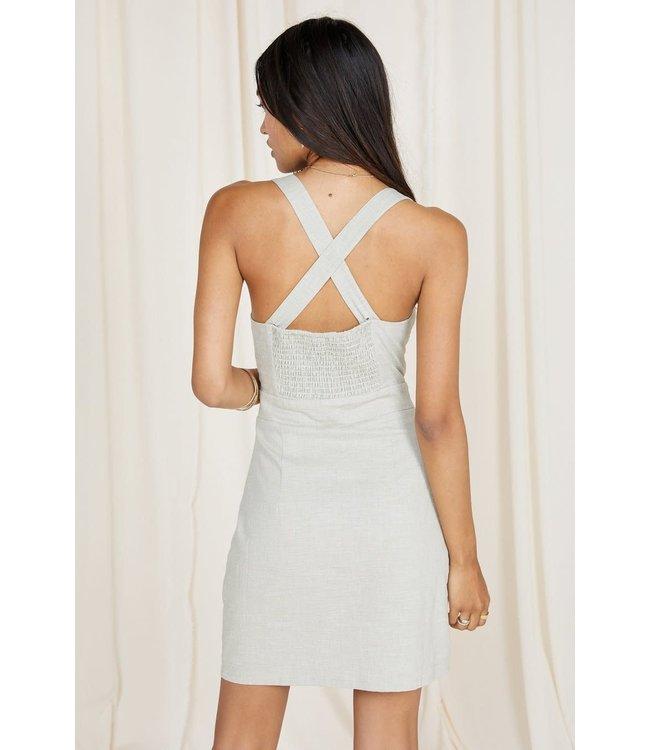 Sage The Label Norah Button Front Dress