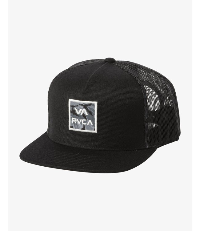RVCA Mens ATW Print Trucker Hat Black