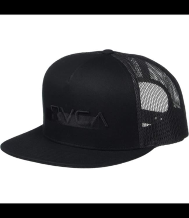 RVCA Mens Overlay Trucker Hat Black