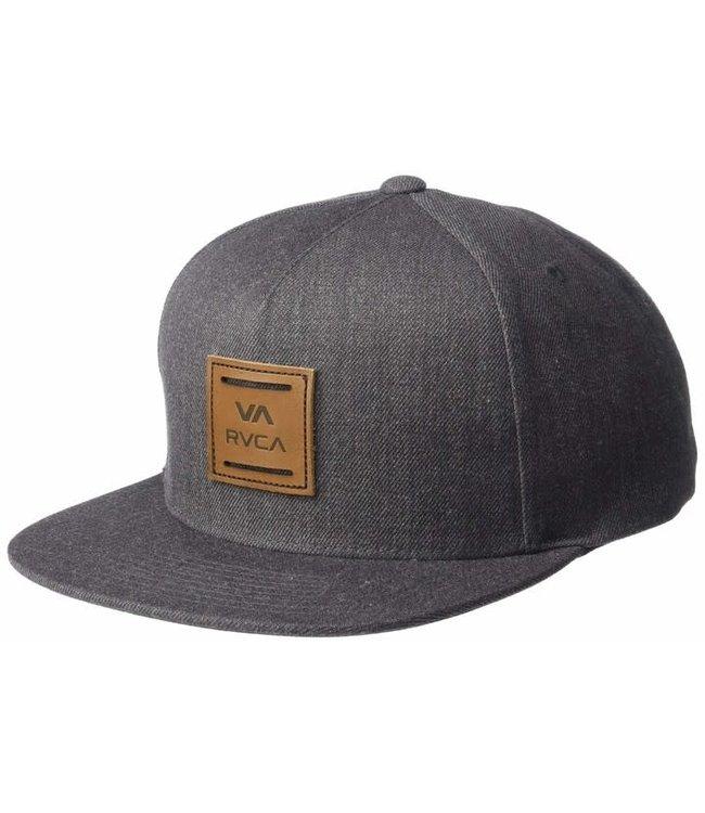 RVCA Mens ATW Snapback Hat Charcoal