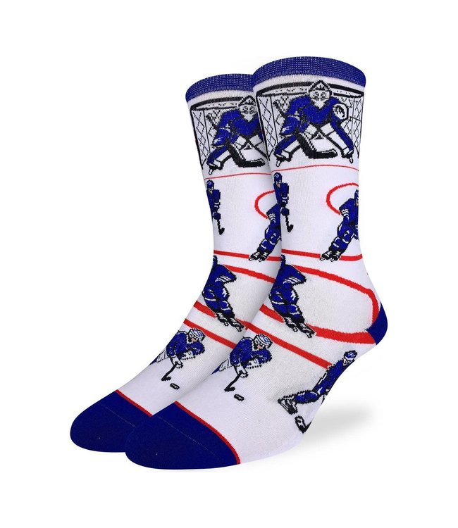 Good Luck Sock Mens Blue & White Hockey