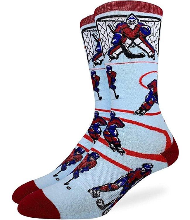 Good Luck Sock Mens Blue/Red Hockey