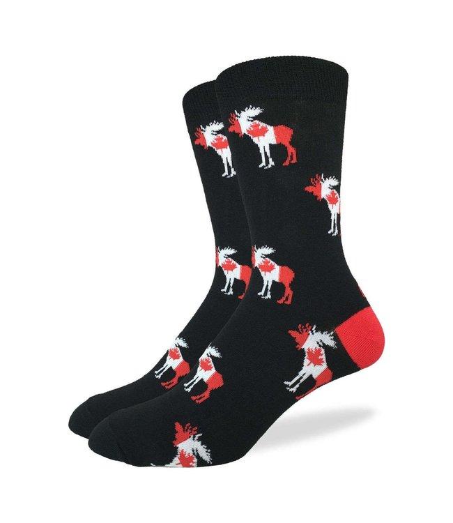 Good Luck Sock Men's Canada Moose Size 7-12