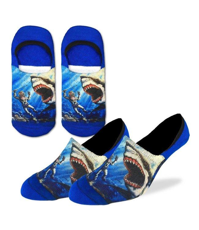 Good Luck Sock Men's Shark Attack No Show Size 7-12
