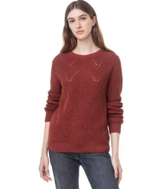 Ten Tree Womens Highline Scalloped Sweater