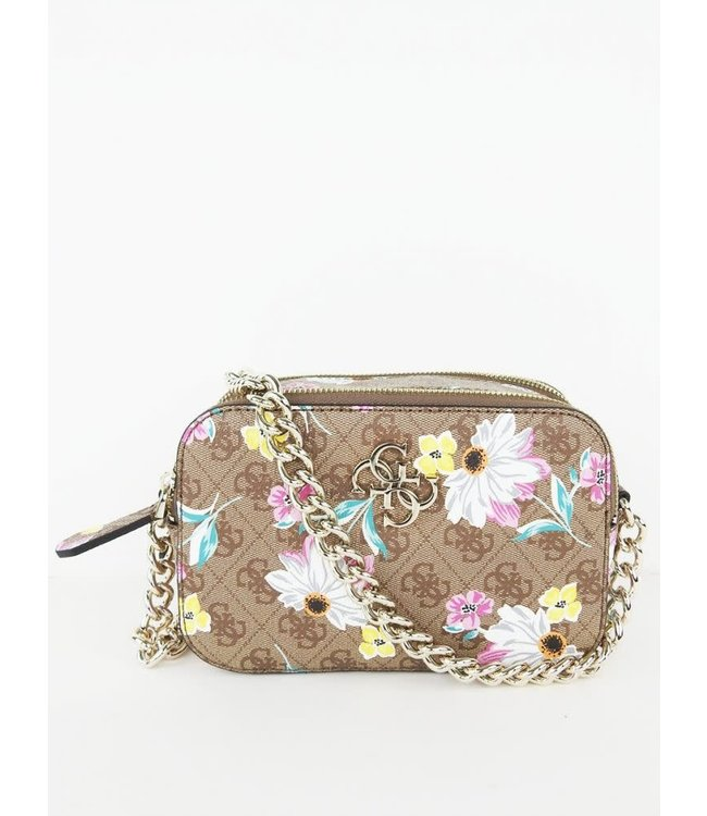 Guess Noelle Xbody Logo Floral Purse