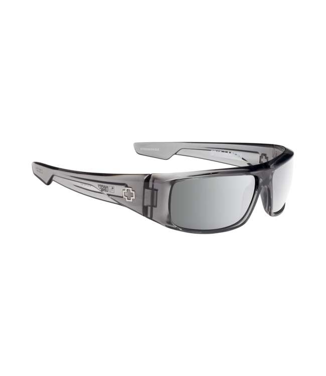 Spy Logan Clear Smoke Happy Gray Green W/Silver Mirror