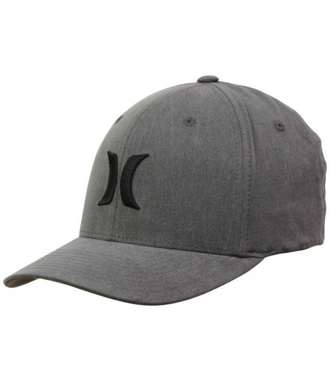 Hurley Mens Black Textures Hat - Black Stripe