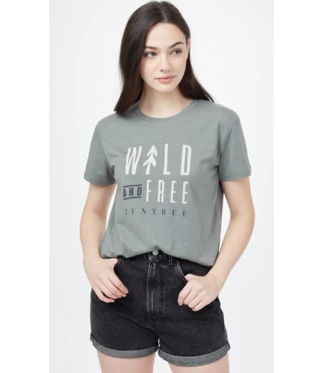 Ten Tree Womens Wild and Free T-Shirt