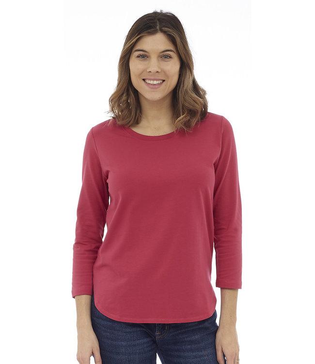 DKR 3/4 Sleeve Shirt w/ Tail Hem