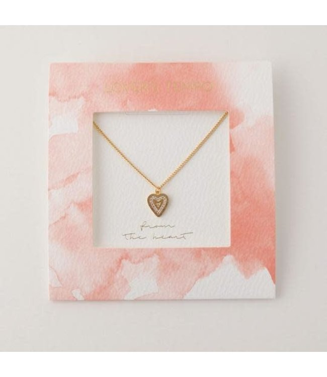 Lovers Tempo From the Heart Pave Heart Necklace