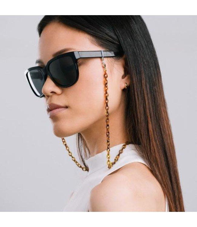 Lovers Tempo Manhattan Convertible Glasses/Mask Chain - Tortoise