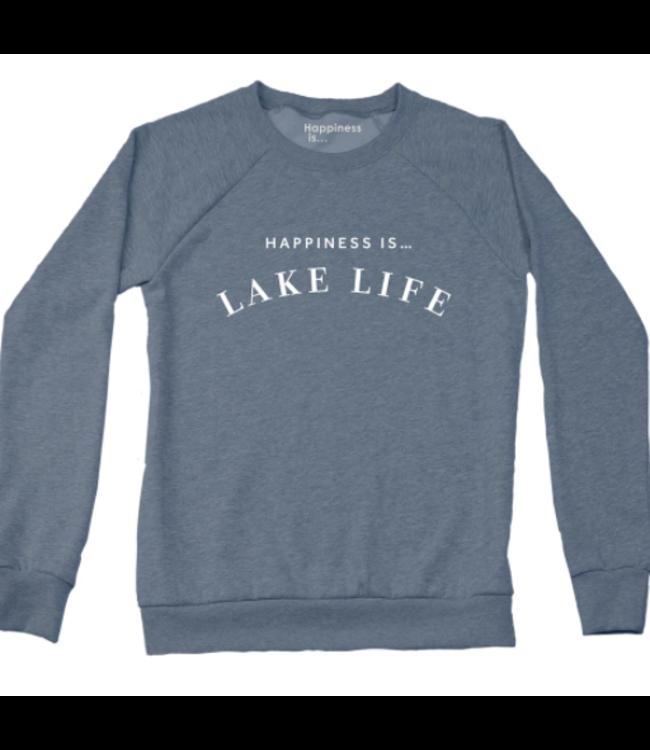 Happiness is Lake Life Crewneck