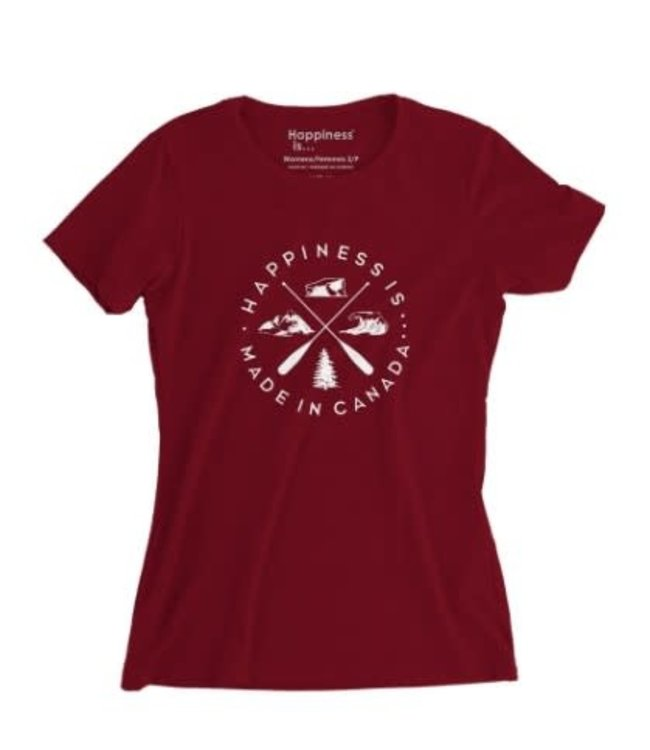 Happiness Is Women's Crest T-Shirt