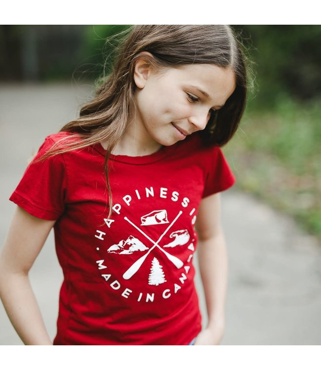 Happiness is Youth Girls Crest T-Shirt