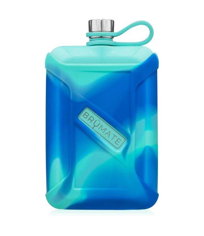 BruMate Liquor Canteen 8oz Aqua Swirl