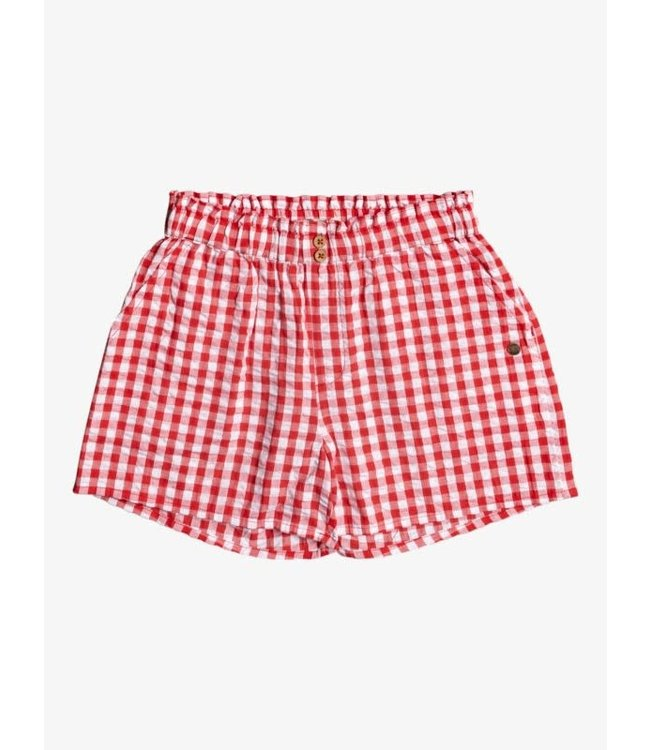 Roxy Girls No Promises Gingham Shorts