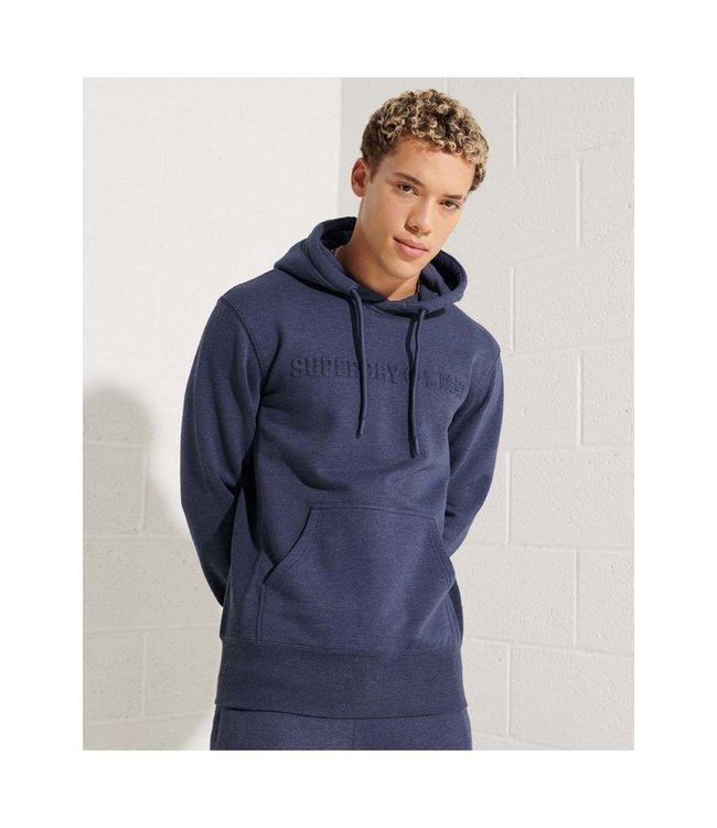 Super Dry Mens Sport Style Embossed Hoodie