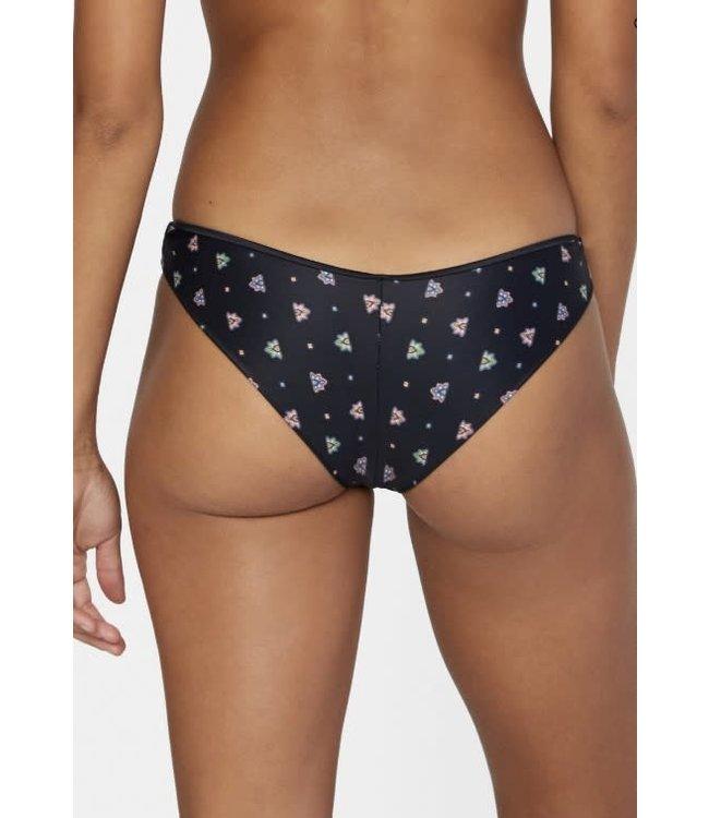 RVCA Womens Foulard Cheeky Bikini Bottoms