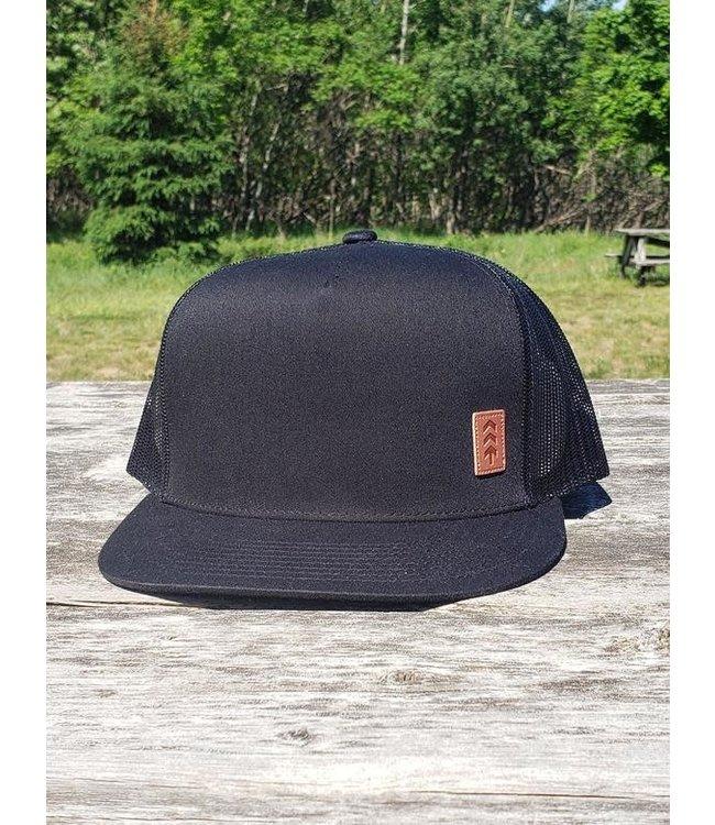 Northbound Leather Patch Logo Trucker Hat