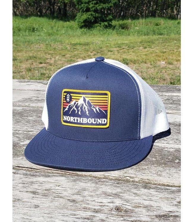 Northbound Retro Mountains Patch Trucker Hat
