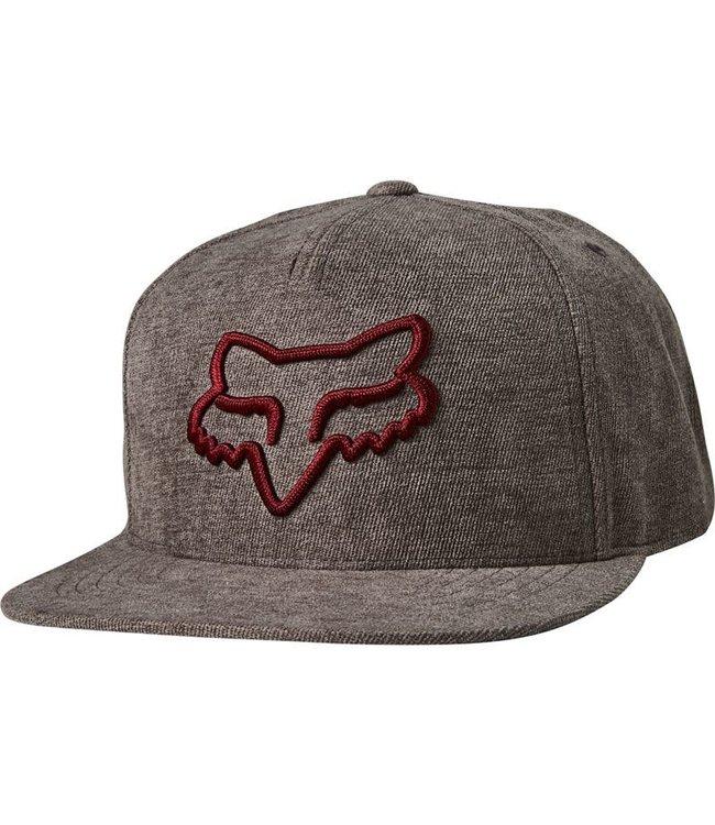Fox Instill Snapback Hat - Grey/Red